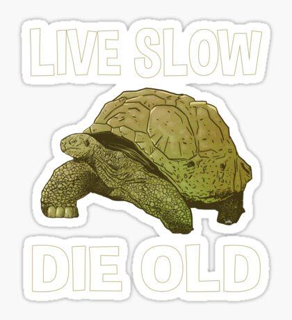 Live Slow, Die Old Sticker