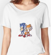 Classic Sonic and Tails Women's Relaxed Fit T-Shirt