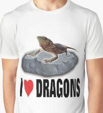 I Love Dragons Graphic T-Shirt