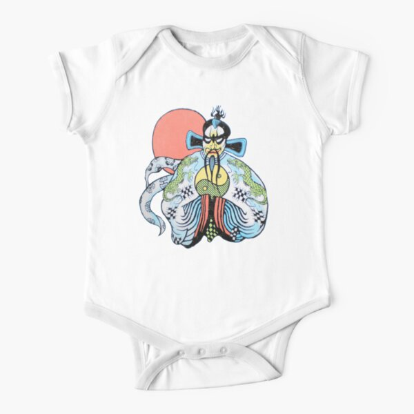 Fashion Retro Style Ironworker Silhouette Crawler Short Sleeve Cotton Bodysuit for Baby Boys and Girls