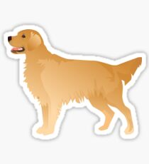 Golden Retriever Basic Breed Silhouette Sticker