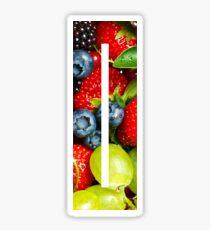 The Letter I - Fruit Sticker