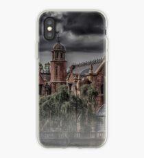 Vinilo o funda para iPhone Halloween Haunted Mansion Niebla