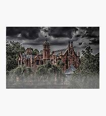 Halloween Haunted Mansion Fog Photographic Print