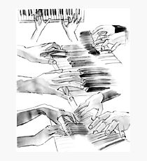 Hands + Piano Photographic Print