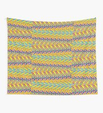 Abstract multi color zig zag 400C Wall Tapestry