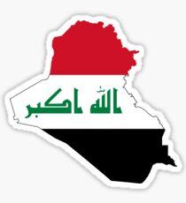 Flag Map of Iraq  Sticker