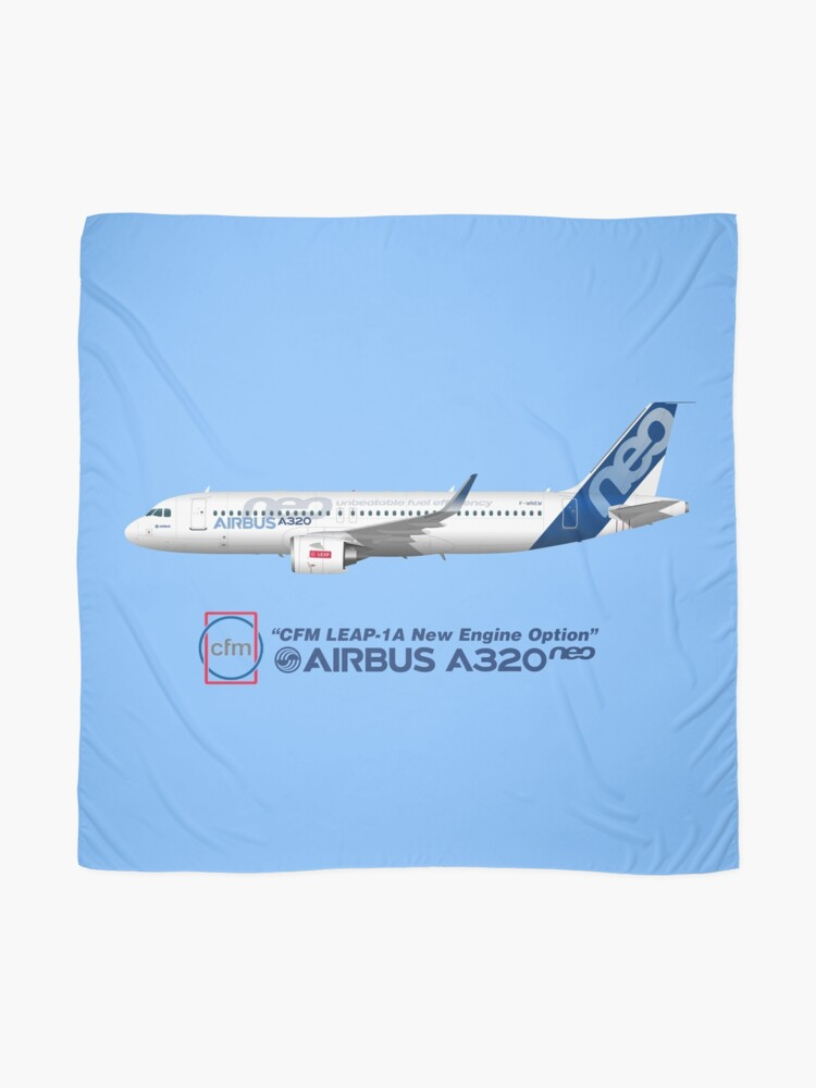 Illustration of Airbus A320 NEO F-WNEW - Blue Version | Scarf