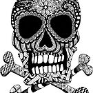 Tangled Skull and Crossbones by julieerindesign