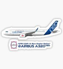 Illustration von Airbus A320 NEO F-WNEW Sticker