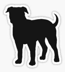American Bulldog Silhouette(s) Sticker