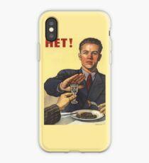 Soviet Poster: Hет! iPhone Case