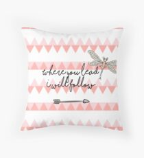 Gilmore Girls- Where you lead I will follow Throw Pillow