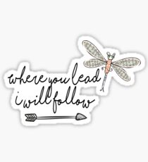 Gilmore Girls- Where you lead I will follow Sticker