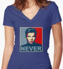 Never Gonna Give Up Hope Women's Fitted V-Neck T-Shirt