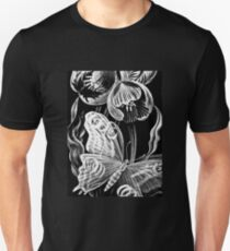 Butterfly & Flower Etchings T-Shirt