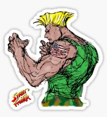Streetfighter 2 Guile Sticker