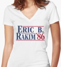 Eric B. for president Women's Fitted V-Neck T-Shirt