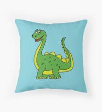 Happy Dinosaur  Throw Pillow