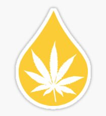 Dab Droplet Weed Leaf Sticker
