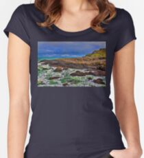 Northern Ireland. Giant's Causeway. Women's Fitted Scoop T-Shirt