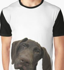 Glossy Grizzly German Shorthaired Pointer Graphic T-Shirt