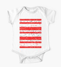 Red White Stripe Patchy Marble Pattern Kids Clothes