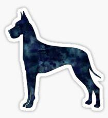 Great Dane Black Watercolor Silhouette Sticker