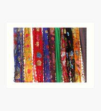 Colorful neckerchief-TURKEY Art Print