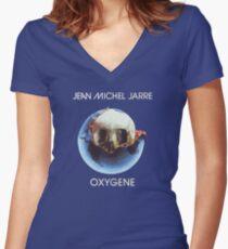 Jean-Michel Jarre - Oxygène Women's Fitted V-Neck T-Shirt