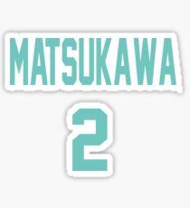 Haikyuu!! Jersey Matsukawa Number 2 (Aoba) Sticker