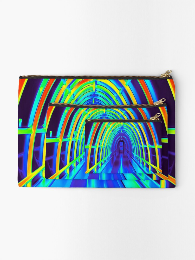 Alternate view of Tunnel Zipper Pouch