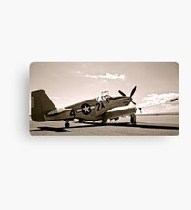 Tuskegee P-51 Mustang Vintage Fighter Plane Canvas Print