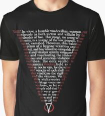 V for Vendetta - Who are you? Graphic T-Shirt