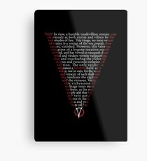 V for Vendetta - Who are you? Metal Print
