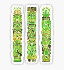 Tiki Totems – Green Sticker