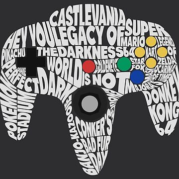 N64 Controller - Typography  by RellikJoin