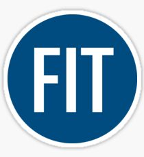 FIT Sticker BLUE Sticker