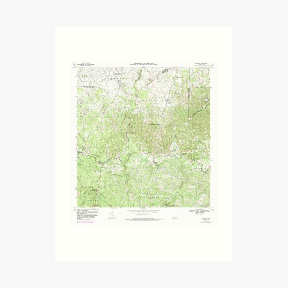 USGS TOPO Map Puerto Rico PR Bayaney 362049 1970 20000 Lámina artística