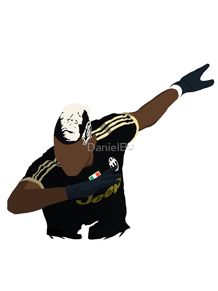 paul pogba dabbing by danielbu redbubble. Black Bedroom Furniture Sets. Home Design Ideas