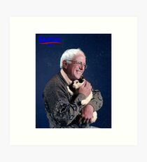 Cat and Bernie Art Print