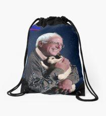 Cat and Bernie Drawstring Bag