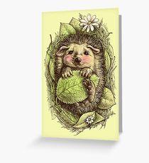 Kleiner Igel gefärbt Grußkarte