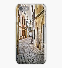 Cobble Stoned Street with Bicycle iPhone Case/Skin