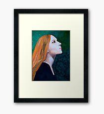 Girl Portrait Acrylic Painting Framed Print