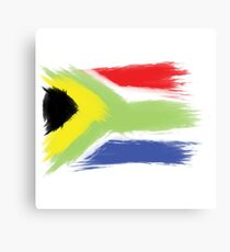 South Africa flag cape town Canvas Print