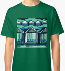 Beach Huts - Blue & Turquoise Classic T-Shirt