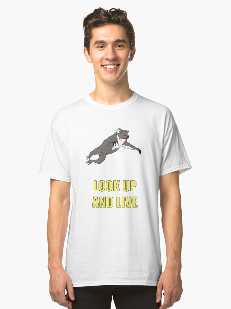 Alternate view of Look Up And Live Classic T-Shirt