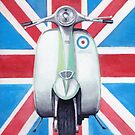 Scooter on Union Jack by Andy  Housham