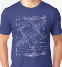 Spitfire-Konzept-Pläne Slim Fit T-Shirt
